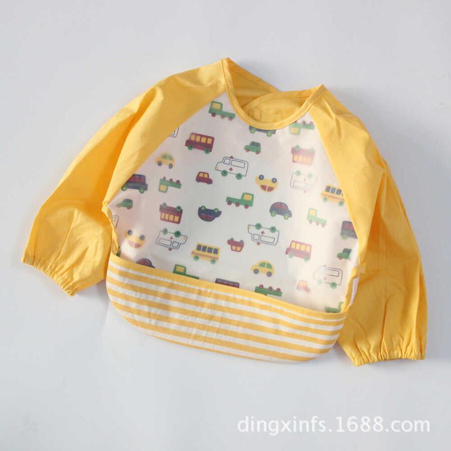 ss20P - Arabalı Sarı Bebek Önlüğü