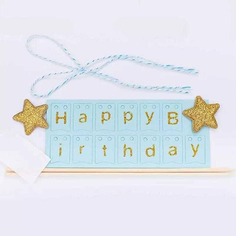 SS212 - Mavi Happy Birthday Baskılı Kağıt Afiş