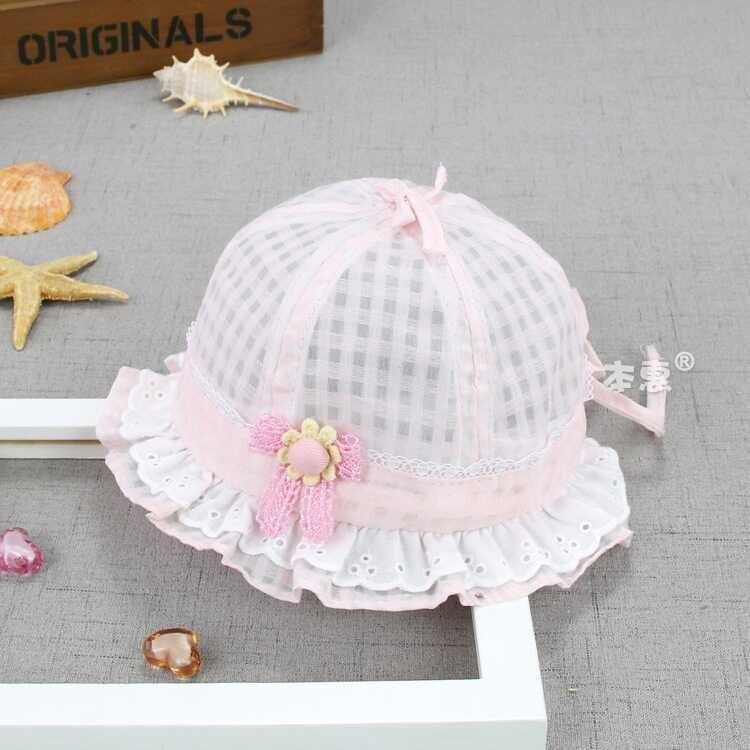 ss20P - Çiçek Detaylı Pembe Şapka