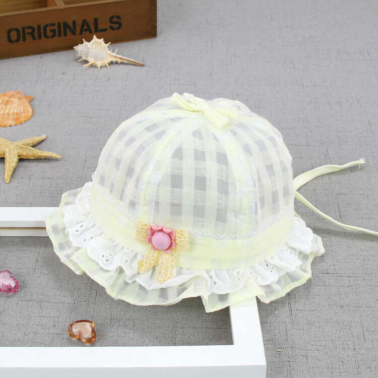 ss20P - Çiçek Detaylı Sarı Şapka