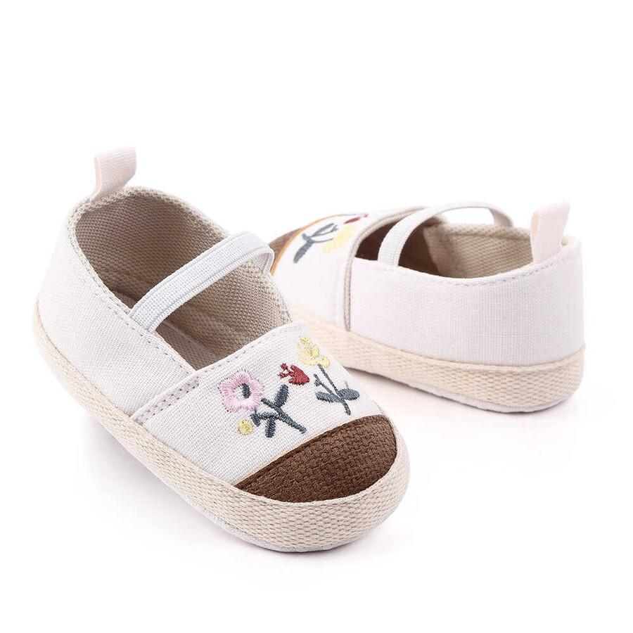 ss20P - Çiçekli Beyaz Ayakkabı