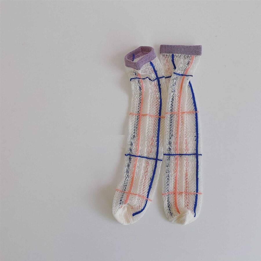 SUM211 - Çizgili Tül Çorap
