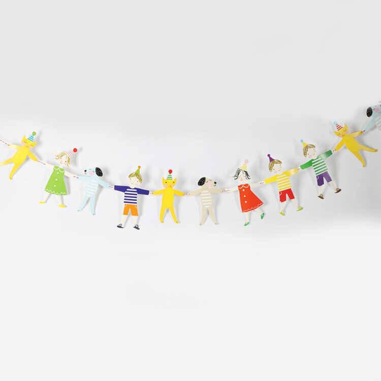 SS212 - Çocuk Figürlü Doğum Günü Bayrağı