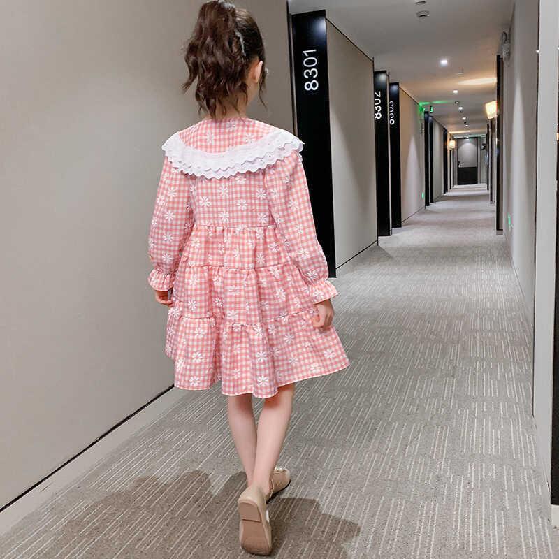 Dantel Detaylı Pötikareli Pembe Elbise