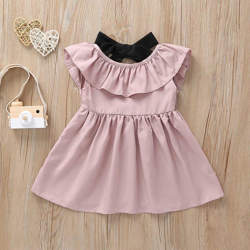 LHB2 - Fırfırlı Pembe Elbise