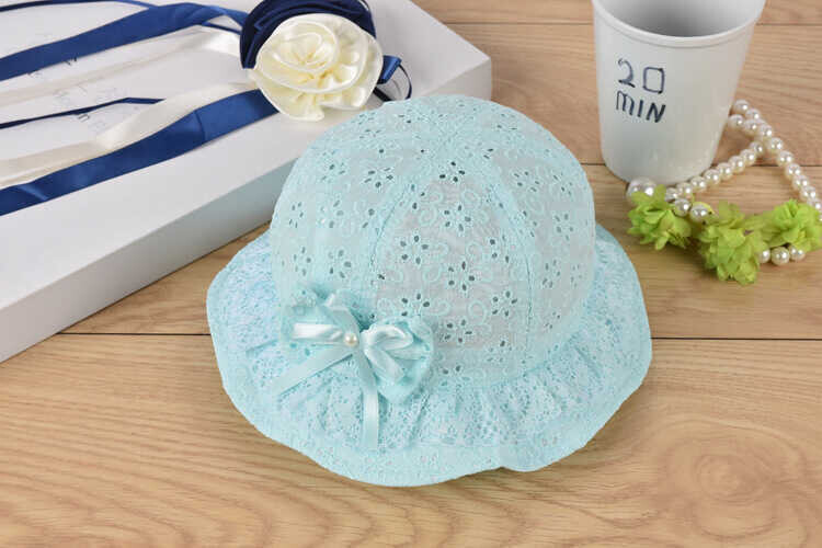 ss20P - Fiyonk Kurdele Detaylı Mavi Şapka