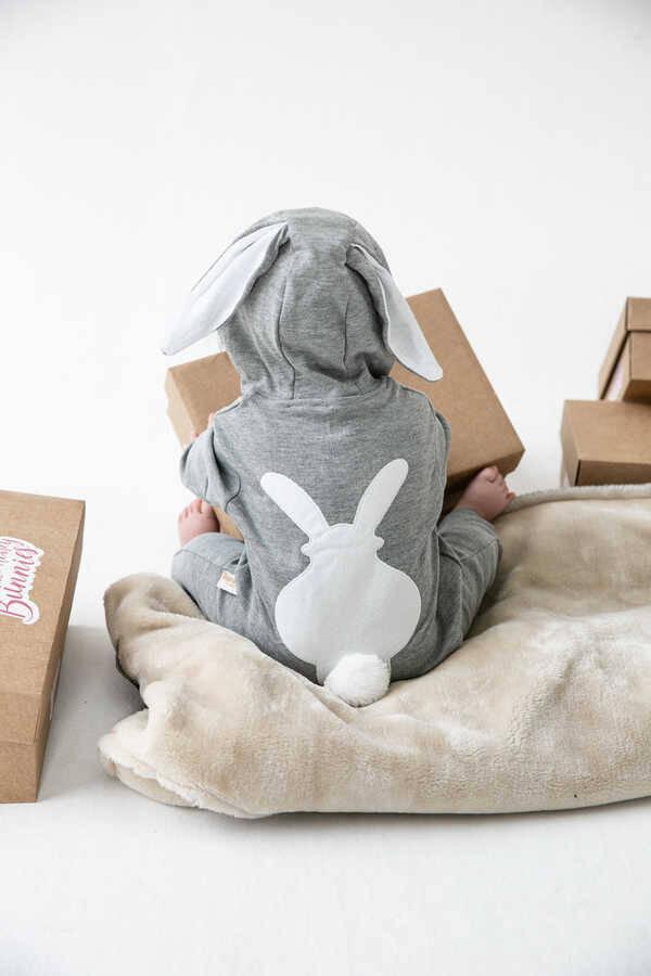 MRTBB - Gri Tavşan Kulaklı Tulum