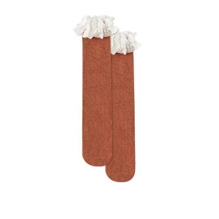 AW21 - Kahverengi Dizaltı Çorap