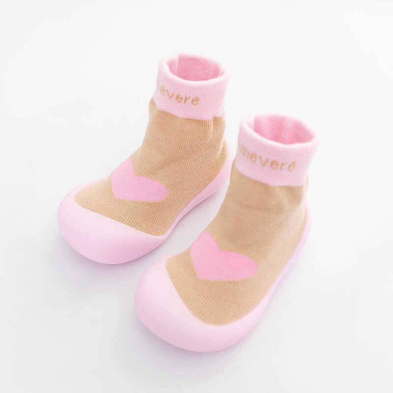 SS212 - Kalp Detaylı Pembe Çorap