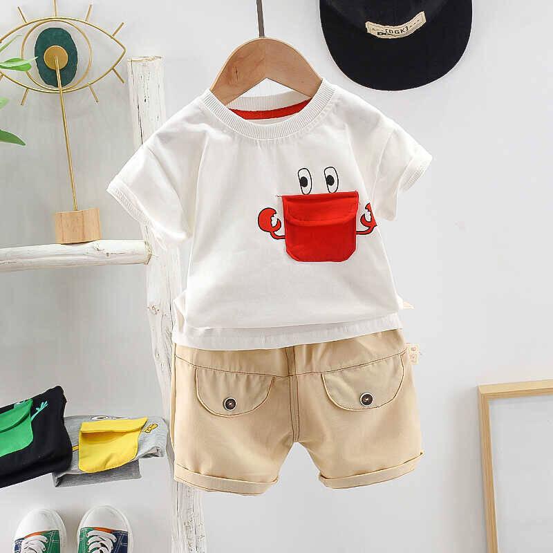 SUM21 - Kırmızı Baskı Detaylı Beyaz Tshirt Ve Krem Şort 2'li Takım