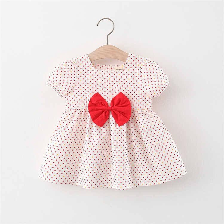 SUM211 - Kırmızı Kurdele Beyaz Elbise