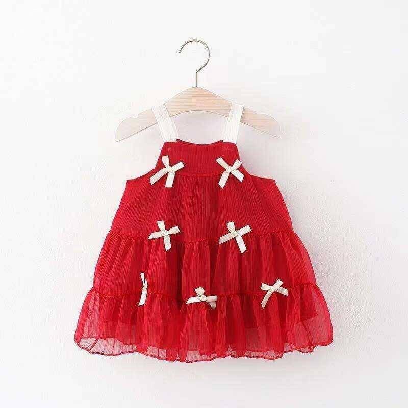 SUM211 - Kırmızı Kurdele Elbise