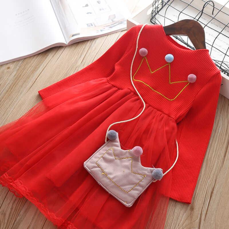 AW21 - Kırmızı Tac Elbise Ve Çanta 2'li Takım