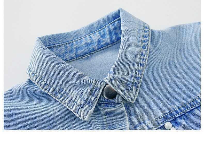 Krem Tül Elbise Ve Kot Ceket 2'li Takım