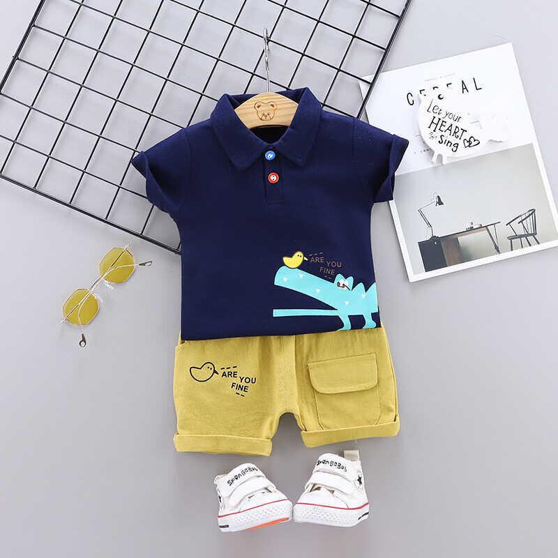 ss20P - Lacivert Tshirt Ve Şort 2'li Takım