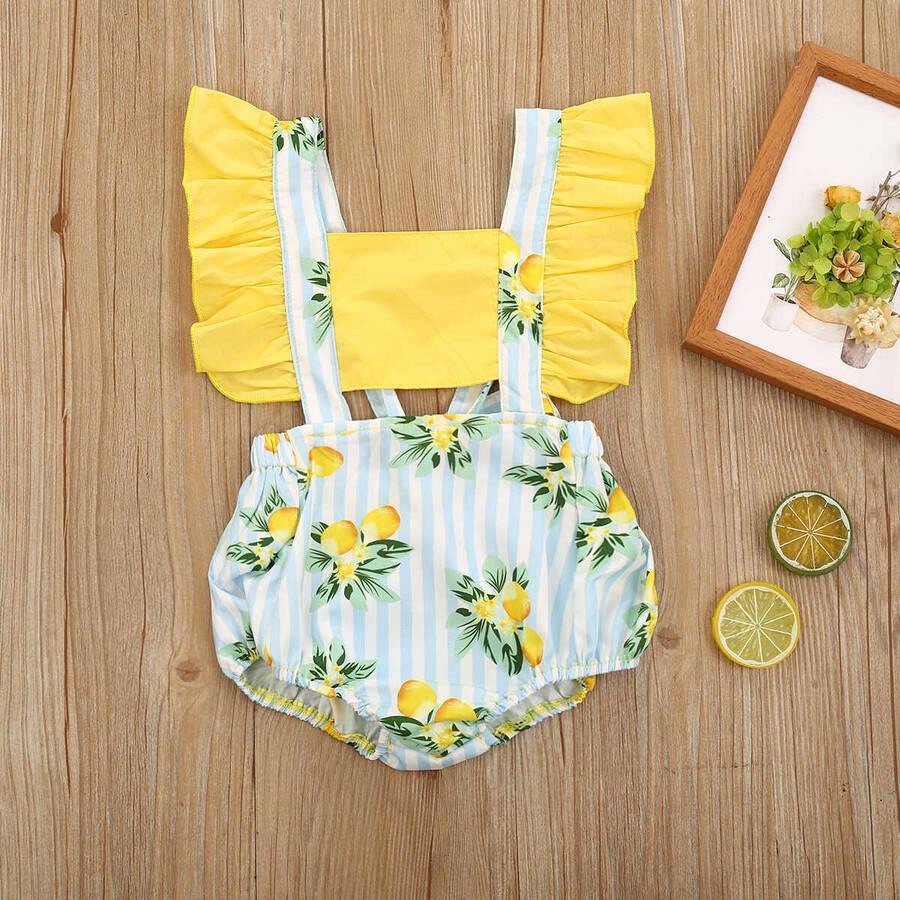 SS212 - Limon Desenli Romper