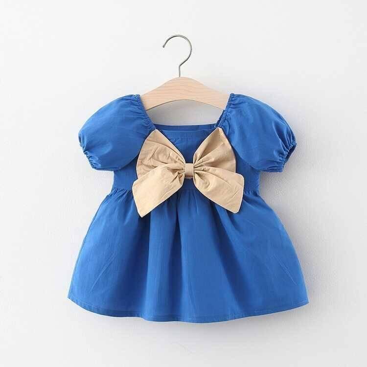 SUM211 - Mavi Balon Kol Elbise