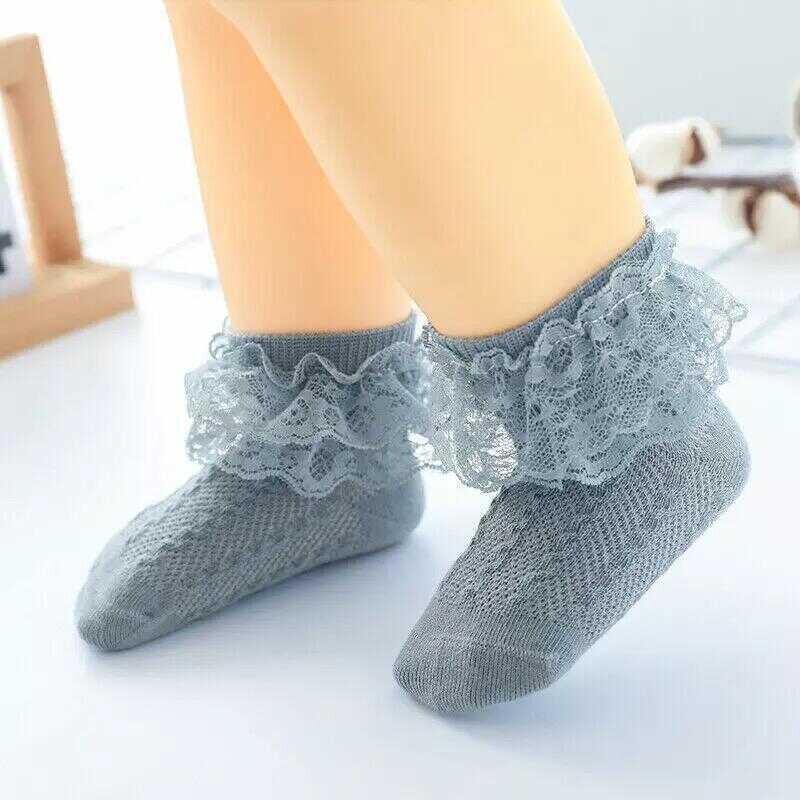 AW21 - Mavi Fırfırlı Çorap