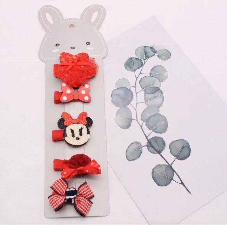 ss20P - Minnie Mouse 5'li Klips Toka
