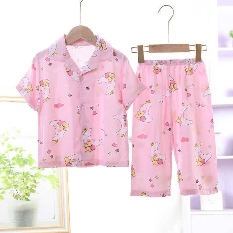 SS212 - Pembe Ay Desenli Pijama Takımı