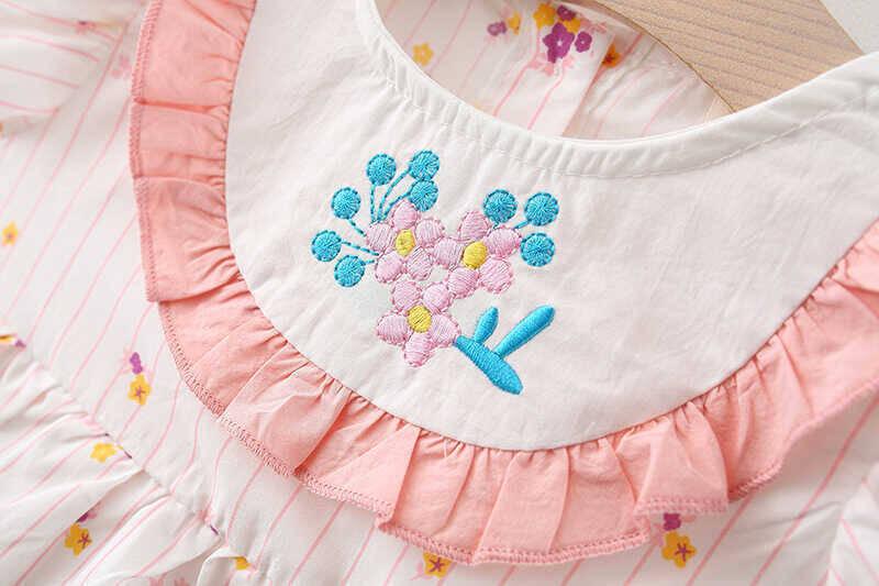 SUM21 - Pembe Çiçekli Desenli Elbise