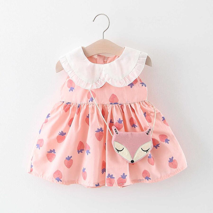 ss20P - Tilki Çantalı Pembe Elbise