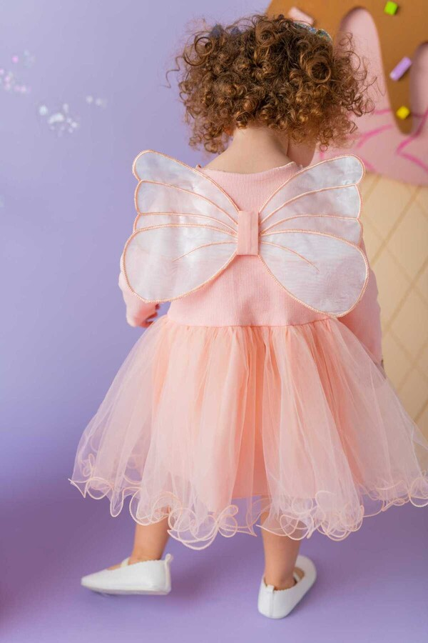 BBS - Somon Kanatlı Elbise