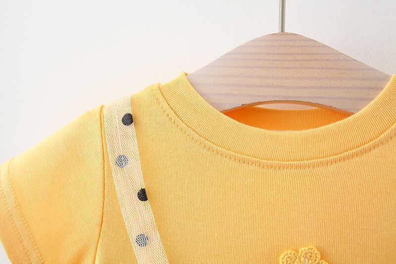 Puantiye Detaylı Sarı Tül Elbise