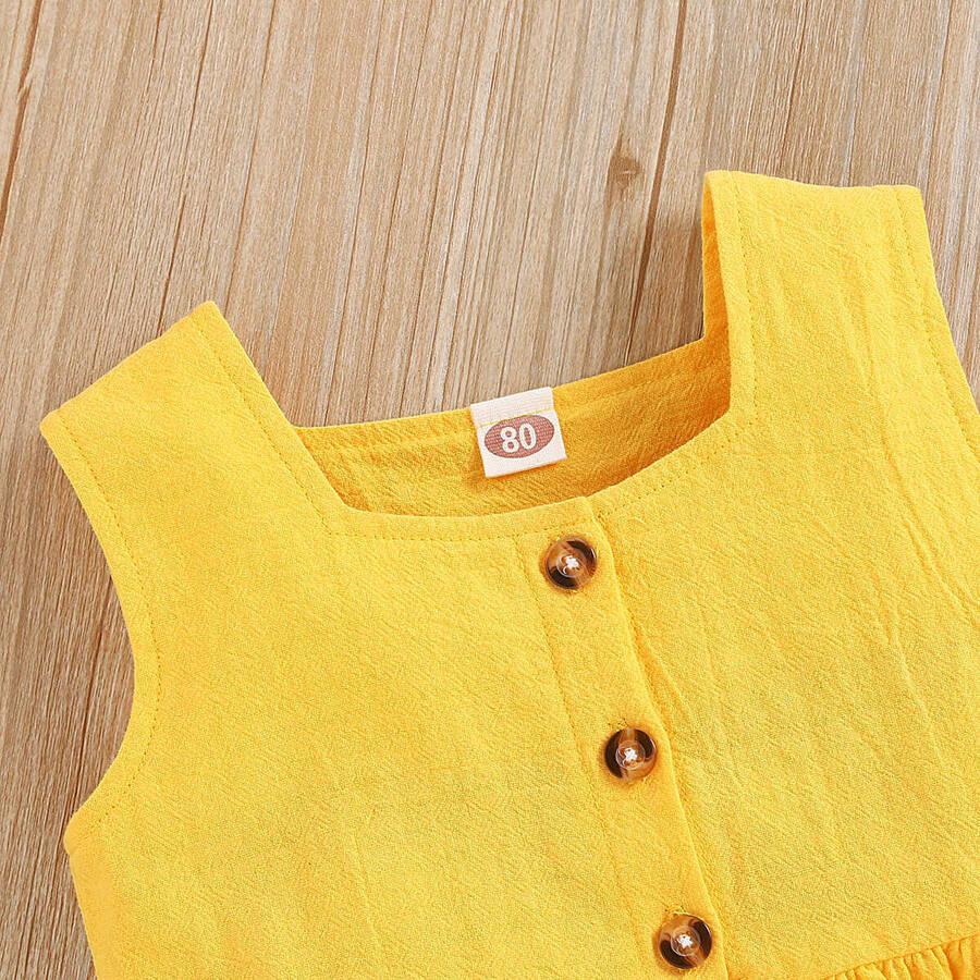 SUM21 - Sarı Bluz, Ayçiçek Detaylı Şort Ve Saç Bandı 3'lü Set