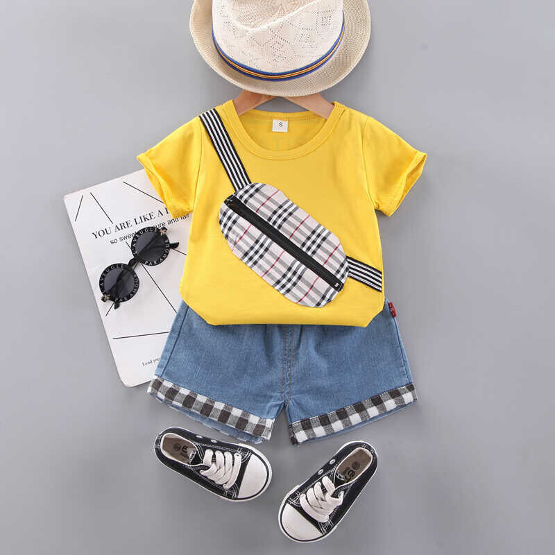 SUM21 - Sarı Bluz Ve Kot Şort 2'li Takım