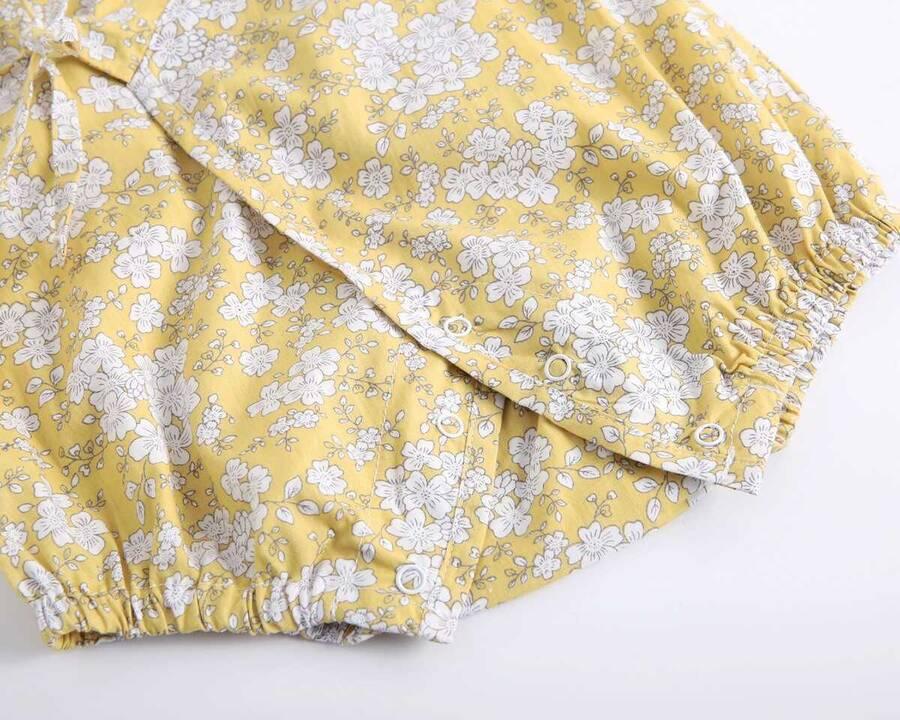 SUM21 - Sarı Desenli Romper