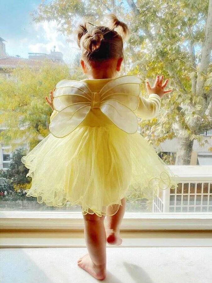 ZR20 - Sarı Kanatlı Elbise