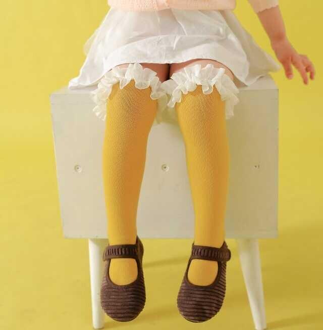 AW21 - Sarı Dizaltı Çorap