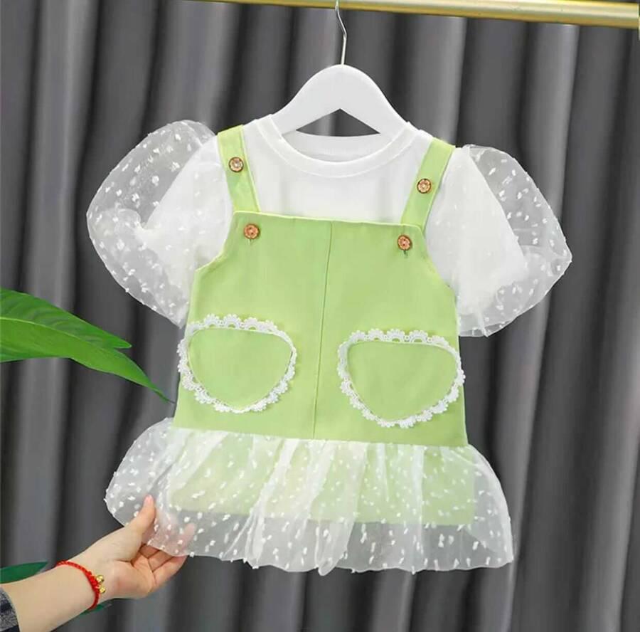 SUM211 - Yeşil Salopet T'-shirt 2'li Takım